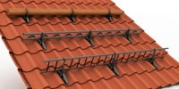 Trapac® snowguard system for roof safety