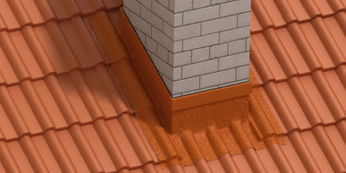 Wall- and chimney flashings